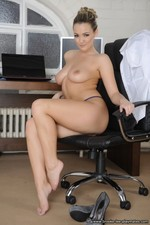Busty Secretaries Naked In The Office-11
