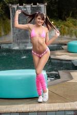 Cute Smiley Adria Rae In Pink Set-02