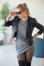 Candice Brielle In Black Set-02
