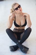 Candice Brielle In Black Set-03