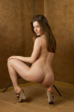 Cute Lily Naked Posing In Studio-09