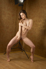 Cute Lily Naked Posing In Studio-14