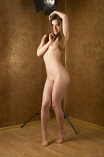 Cute Lily Naked Posing In Studio-16