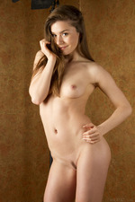Cute Lily Naked Posing In Studio-20