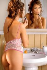 Jordan Monroe Sexy Brunette Babe In Bathroom-03