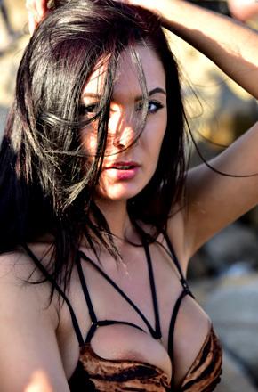 Marley Posing At The Beach
