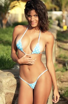 Sexy Latina Posing In Her Micro Bikini