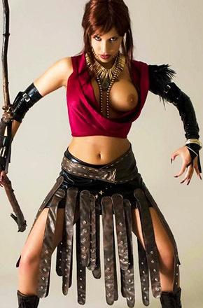 Analia Cosplaying Druid