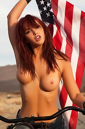 Veronica Ricci Hot Redhead Biker Girl