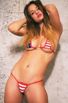 Nicole In American Bikini