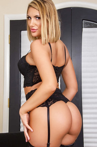 Stocking Attired Blonde Babe August Ames