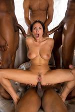 Anissa Gets Her Interracial Gang Bang Wish-15
