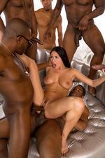 Anissa Gets Her Interracial Gang Bang Wish-16