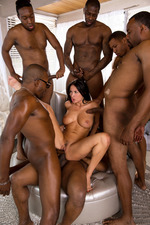Anissa Gets Her Interracial Gang Bang Wish-18